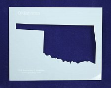 Buy State of Oklahoma Stencil -14 mil Mylar Painting/Crafts