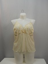 Buy Women Camisole Plus Size 26 Beige Spaghetti Strap Eyelet Front Bow Sheer Sexy