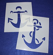 Buy Large Anchor Stencils 2 Piece Set -Mylar 14 Mil Painting/Crafts/Template
