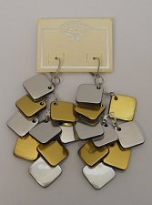 Buy Women Fashion Drop Dangle Earrings Gold Silver Squares Leverback CATHERINE STEIN