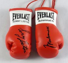 Buy Muhammad Ali V Sonny Liston Autographed Mini Boxing gloves (collectable)