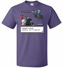 Buy Throne Battle 2 Unisex T-Shirt Pop Culture Graphic Tee (4XL/Purple) Humor Funny Nerdy