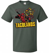 Buy Tacolands Unisex T-Shirt Pop Culture Graphic Tee (4XL/Forest Green) Humor Funny Nerdy