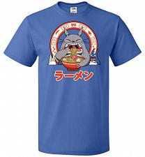 Buy The Neighbor's Ramen Unisex T-Shirt Pop Culture Graphic Tee (4XL/Royal) Humor Funny N