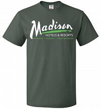 Buy Billy Madison Hotels & Resorts Adult Unisex T-Shirt Pop Culture Graphic Tee (L/Forest