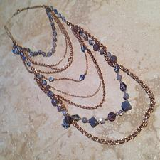 Buy beach colored beaded necklace