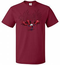 Buy Ant Training Unisex T-Shirt Pop Culture Graphic Tee (4XL/Cardinal) Humor Funny Nerdy