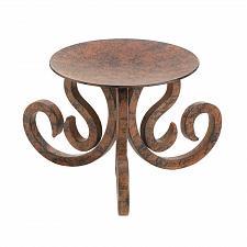 Buy *15379U - Santa Rosa Rustic Scrollwork Iron Pillar Candle Stand