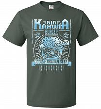 Buy Big Kahuna Burger Adult Unisex T-Shirt Pop Culture Graphic Tee (XL/Forest Green) Humo