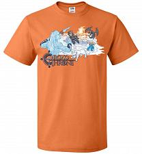 Buy Chrono Throne Unisex T-Shirt Pop Culture Graphic Tee (M/Tennessee Orange) Humor Funny