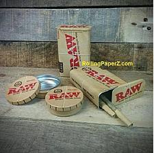 Buy BOTH RAW Rolling Paper Storage Tins - Pop Top Round + Slide Top Cigarette Case