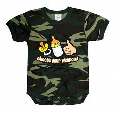 Buy One Piece Choose Your Weapon Wisely Camo Army Military Infant Bodysuit