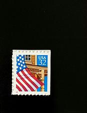 Buy 1997 32c Flag over Porch, Booklet Single, Red SA Scott 2921c Mint F/VF NH