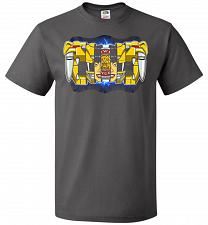 Buy Yellow Ranger Unisex T-Shirt Pop Culture Graphic Tee (L/Charcoal Grey) Humor Funny Ne