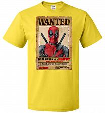 Buy Deadpool Wanted Poster Youth Unisex T-Shirt Pop Culture Graphic Tee (Youth XL/Yellow)