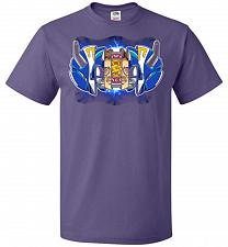 Buy Blue Ranger Unisex T-Shirt Pop Culture Graphic Tee (3XL/Purple) Humor Funny Nerdy Gee
