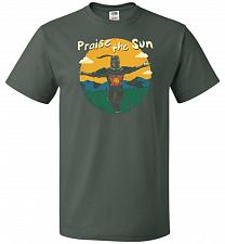 Buy Praise The Sun Unisex T-Shirt Pop Culture Graphic Tee (5XL/Forest Green) Humor Funny