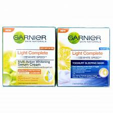 Buy Garnier Light Complete White Speed Day and Night Cream Skin Whitening Set