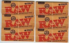 Buy 6 PACKS RAW CLASSIC KING SIZE SUPREME Natural Unrefined Cigarette Rolling Papers