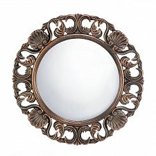 Buy *17056U - Heirloom Brown Antique Round Hanging Wall Mirror