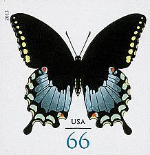 Buy 2013 66c Spicebush Swallowtail Butterfly, Imperforate Scott 4736a Mint F/VF NH