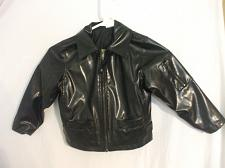 Buy Unisex Black polyurethaNE A.K.A Faux Leather Jacket JG & Co Size 4
