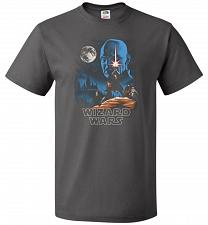 Buy Wizard Wars Unisex T-Shirt Pop Culture Graphic Tee (XL/Charcoal Grey) Humor Funny Ner