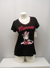 Buy DISNEY Womens Sleepshirt SIZE M Minnie Graphic Black Short Sleeves Scoop Neck