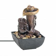 Buy *17766U - Western Cowboy Hat & Boots Tabletop Tranquility Water Fountain
