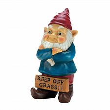 Buy *18337U - Keep Off Grass Grumpy Gnome Figure Yard Art