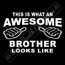 Buy This Is What An Awesome Brother Looks Like T-shirt (16 Tee Colors)