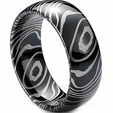 Buy coi Jewelry Black Tungsten Carbide Damascus Wedding Band Ring