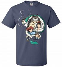 Buy Ghibli Unisex T-Shirt Pop Culture Graphic Tee (XL/Denim) Humor Funny Nerdy Geeky Shir