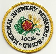 Buy 🍺National Brewery Workers Union Local 1 Patch Never Used Vintage NOS🍺
