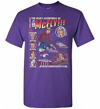 Buy Heavy Adventures Of McFly! Unisex T-Shirt Pop Culture Graphic Tee (S/Purple) Humor Fu