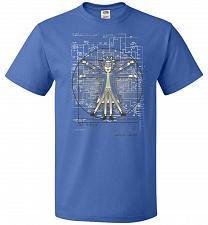 Buy Vitruvian Rick Unisex T-Shirt Pop Culture Graphic Tee (4XL/Royal) Humor Funny Nerdy G