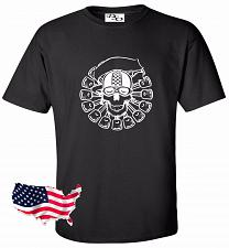 Buy Biker Skull Motorcycle Tattoo T shirt #29