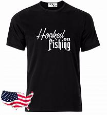 Buy Hooked On Fishing Graphic T-Shirt Hunting