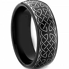 Buy coi Jewelry Black Tungsten Carbide Celtic Wedding Band Ring