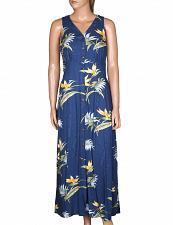 Buy Ladies Bamboo Paradise Long Cocktail Navy Dress in Rayon Herring #PF-190-BP szXL