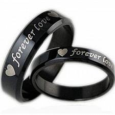 Buy coi Jewelry Black Tungsten Carbide Forever Love Wedding Band Ring