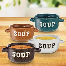 Buy :10798U - Speckled 22oz Soup Bowls Set Of 4 Colors