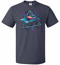 Buy Retro Wave Time Machine Unisex T-Shirt Pop Culture Graphic Tee (M/J Navy) Humor Funny
