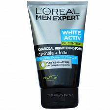 Buy L'Oreal Men Expert White Activ Oil Control Charcoal Brightening Foam 100ml 3.4oz