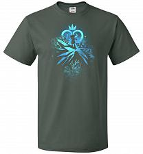 Buy Face of The Key Blade Unisex T-Shirt Pop Culture Graphic Tee (5XL/Forest Green) Humor