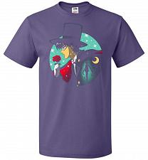 Buy Knight Of The Moonlight Unisex T-Shirt Pop Culture Graphic Tee (2XL/Purple) Humor Fun