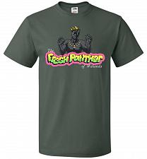 Buy Fresh Panther Unisex T-Shirt Pop Culture Graphic Tee (L/Forest Green) Humor Funny Ner
