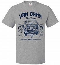 Buy Van Damn Tour Bus Adult Unisex T-Shirt Pop Culture Graphic Tee (S/Athletic Heather) H