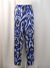 Buy Calvin Klein Womens Palazzo Pants Plus Size 2X Blue Geometric Elastic Waist