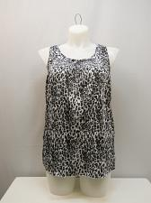 Buy Peasant Tank Top Womens SIZE L FADED GLORY Animal Print Sleeveless Pullover